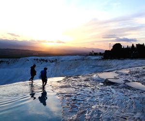 TURKEY DENIZILI PAMUKKALE WORLD HERITAGE