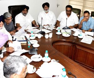 Sukhbir Singh Badal during a high level meeting on governance reforms