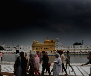 Golden Temple on an overcast day