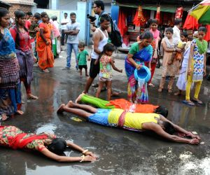 Bengali New Year eve - Devotees perform rituals