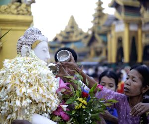 MYANMAR YANGON TAZAUNGDAING FESTIVAL