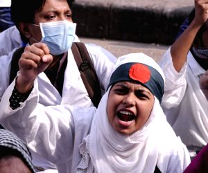 Dhaka (Bangladesh): 300 students attended a demonstration demanding job opportunity and registration for practice