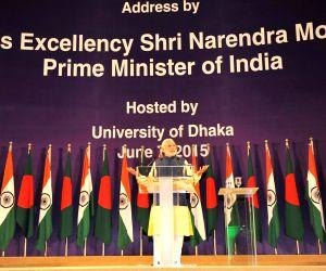 Dhaka (Bangladesh): Modi addresses at Bangabandhu International Convention Centre