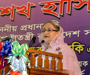 Dhaka (Bangladesh): Sheikh Hasina addresses during a programme