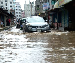 BANGLADESH-DHAKA-WATERLOGGING