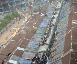 BANGLADESH DHAKA RAILWAY SLUMS