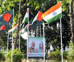 BANGLADESH DHAKA INDIA MODI STATE VISIT BILLBOARDS