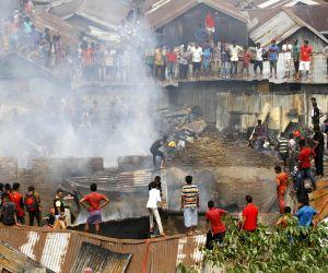 BANGLADESH DHAKA SLUM FIRE