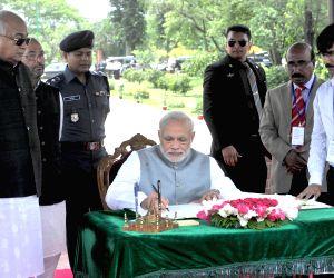 PM Modi at the National Martyrs' Memorial
