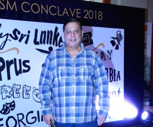 Director David Dhawan at the  India International Film Tourism Conclave in Mumbai on March 3, 2018.