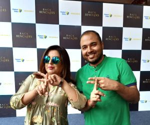 Director Farah Khan along with Prakah Sikaria,Vice President - Growth and Monetization at Flipkart annoucing the launch of Flipkart???s first non-fiction series Backbenchers.