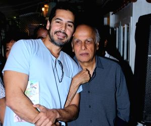 Mahesh Bhatt and Dino Morea at the launch of a novel
