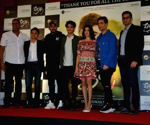 """Success meet of film """"Dhadak"""" - Shashank Khaitan, Karan Johar, Ishaan Khatter and Janhvi Kapoor"""