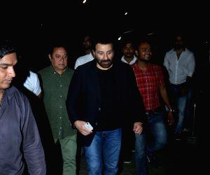 "Director Sunny Deol arrives at the screening of his upcoming film ""Screening of film Pal Pal Dil Ke Paas"" in Mumbai on Sep 19, 2019."