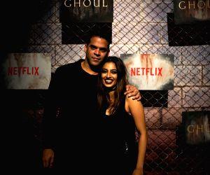 """Black carpet premiere of horror series """"Ghoul"""" - Vikramaditya Motwane and Radhika Apte"""