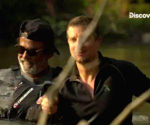 Discovery's Grylls shares Rajinikanth's TV debut video