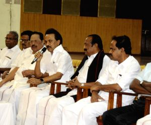 DMK President M.K. Stalin addresses after releasing the list of Lok Sabha constituencies from where the party and its allies would field candidates ahead of 2019 Lok Sabha elections, in ...