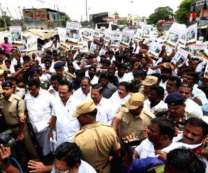DMK's anti-Sterlite protest - M.K Stalin
