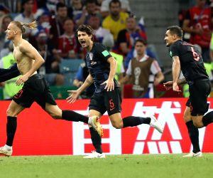 Croatia pip Russia to enter FIFA World Cup semis (Lead)