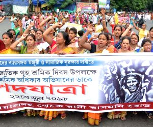 Domestic workers rally in Kolkata for just wages, social security