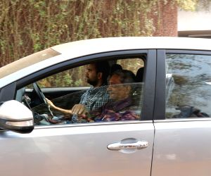 Dona Paula: Goa Chief Minister Manohar Parrikar departs for Mumbai from his residence in Dona Paula, Goa on March 5, 2018.