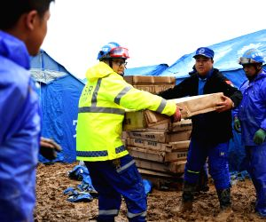 CHINA GANSU FLOOD RESCUE