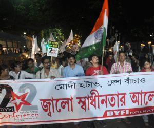 DYFI's protest