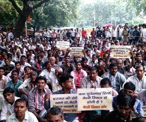 E-rickshaw operators protest