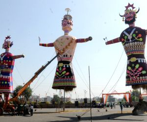Effigies of Raavan at Ramleela Ground