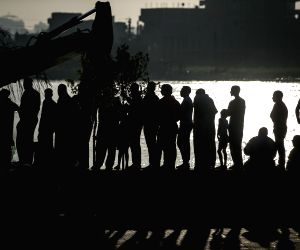 EGYPT CAIRO NILE RIVER SHIPWRECK