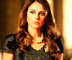 Elizabeth Hurley's stills from her show The Royals. The show is aired in India on Colors Infinity.