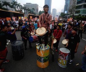 INDONESIA JAKARTA COP21 RALLY