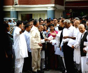 ers of opposition parties Ghulam Nabi Azad, Abhishek Manu Singhvi (Congress), N. Chandrababu Naidu (TDP), Arvind Kejriwal (AAP), D Raja (CPI), and Kanimozhi (DMK) comes out after ...