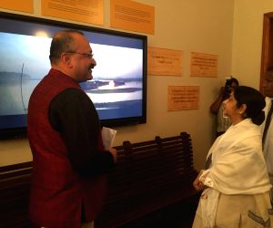 External Affairs Minister Sushma Swaraj inaugurates the Mahatma Gandhi Digital Museum at Pietermaritzburg railway station, South Africa on June 7, 2018.