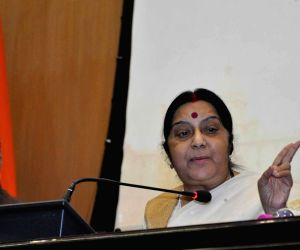 Sushma Swaraj's  press conference