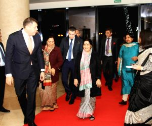 Sochi (Russia): Sushma arrives in Sochi to attend SCO Council Heads of Government Meeting
