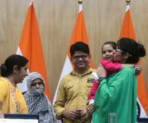 Uzma Ahmed re-united with her child