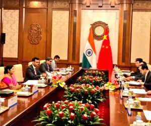 Sushma Swaraj meets Chinese Foreign Minister Wang Yi