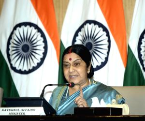 Sushma oversees world Hindi conference preparations in Mauritius