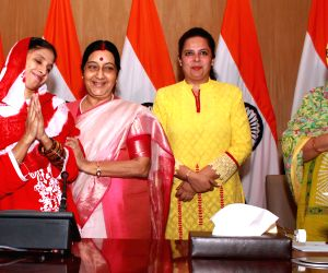 Deaf-mute Geeta's press conference