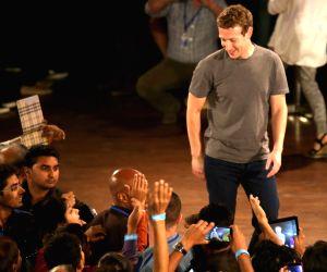File Photos: Mark Zuckerberg with IIT students