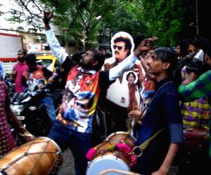 Fans celebrates Kabali release