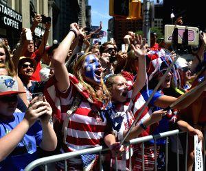 US-NEW YORK-WOMEN'S SOCCER TEAM-CELEBRATION