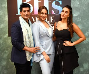"Vogue BFFs"" - Manish Malhotra, Sonakshi Sinha and Neha Dhupia"
