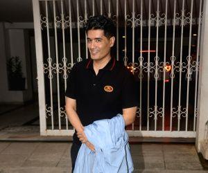 Manish Malhotra seen at filmmaker Karan Johar's residence