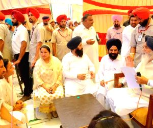 Parkash Singh Badal during a sangat darshan programme