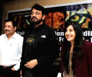 Aditya Mukherjee, Chiranjeet Chakraborty, Ashwika Kapur during a press conference