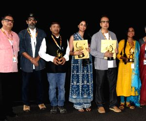"Cast and Crew of film ""Mai Ghat: Crime No 103/2005"" at 50th IFFI"