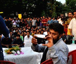 "demonstration against ""Buddha In A Traffic Jam"" screening"