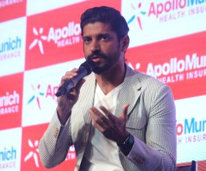 Farhan Akhtar during a programme